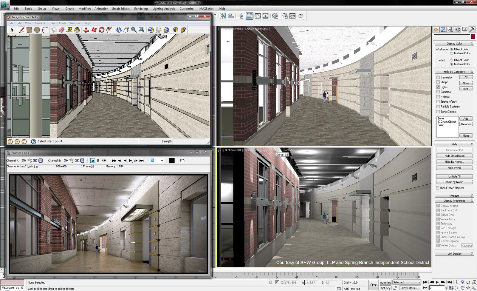 3ds max 2010 can now import sketchup for Architecture 3ds max